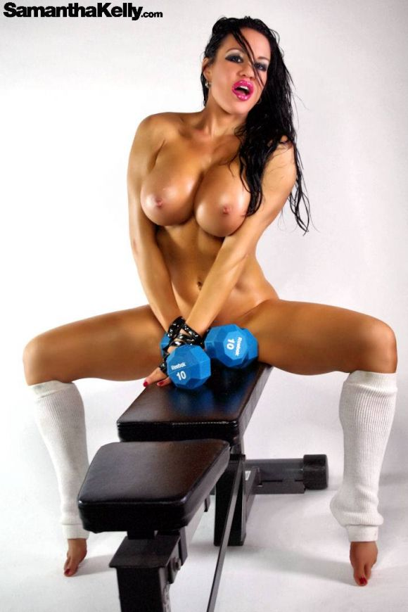 Samantha Kelly Chest Workout Nude