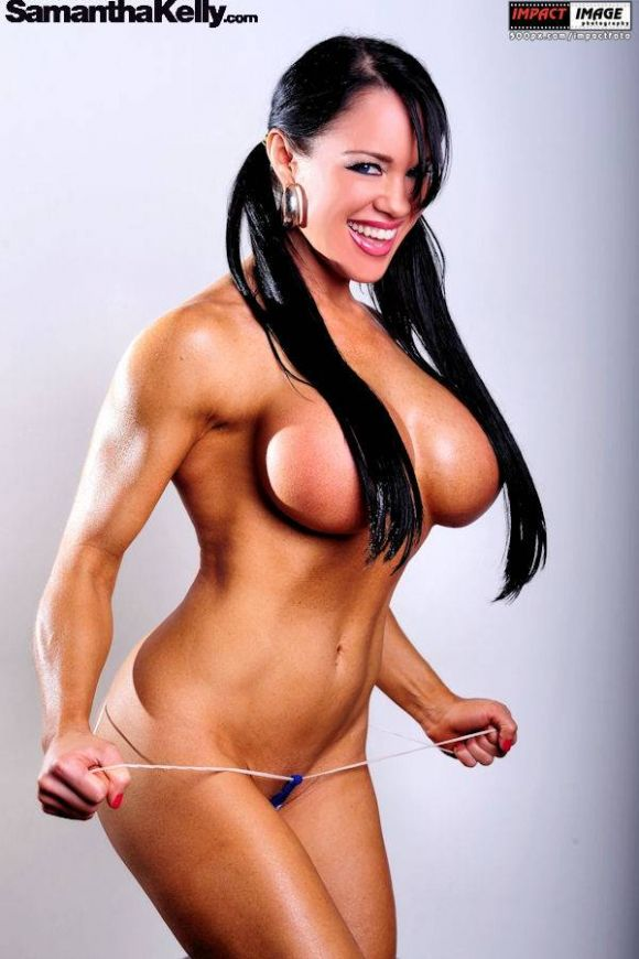 Samantha Kelly Muscle and Curves Topless