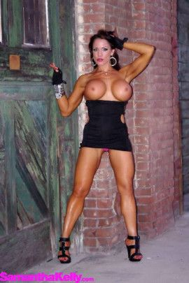 Samantha Kelly Little Black Dress Topless