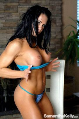 Samantha Kelly Muscle Fantasy Topless