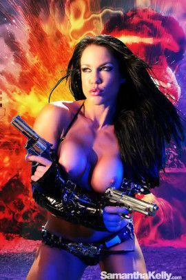 Samantha Kelly La Femme Terminator Topless