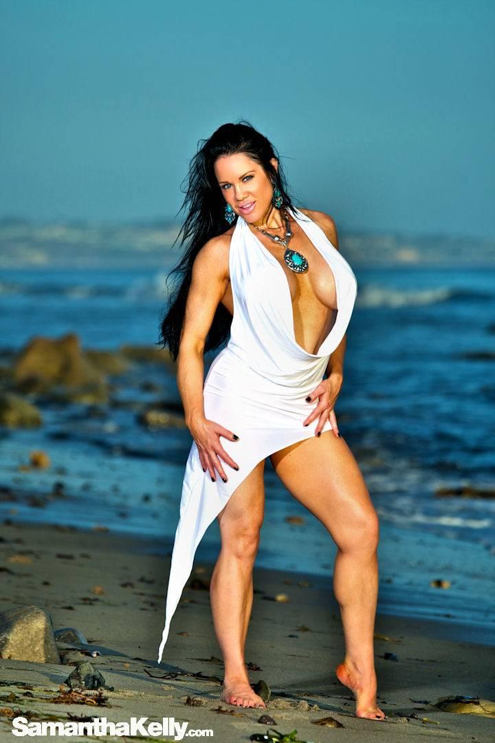 Samantha Kelly hot white wet dress thumb 1