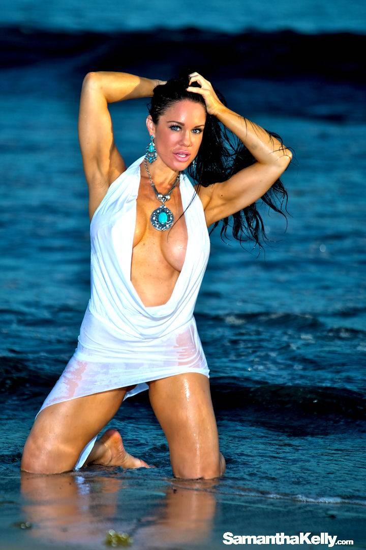 Samantha Kelly hot white wet dress thumb 2