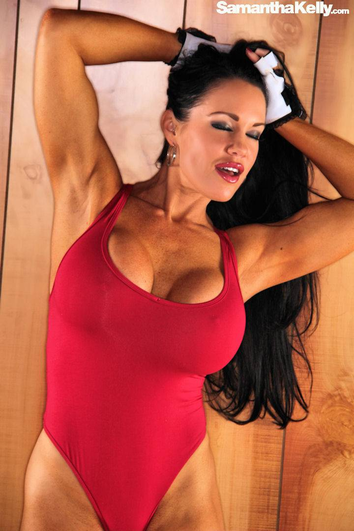 Busty fitness model Samantha Kelly in Baywatch Bikini thumb 3