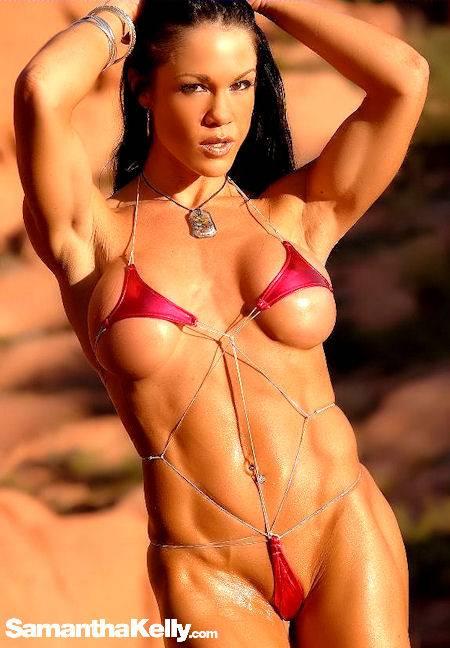 Samantha Kelly in contest shape tiny bikini thumb 1