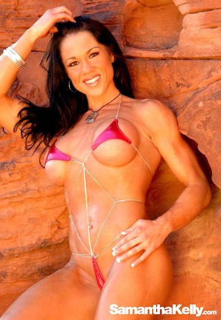 Samantha Kelly in contest shape tiny bikini thumb 3