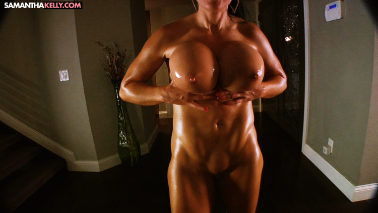 Insanely Oiled Up Nude Flexing My Muscles Hard XXX