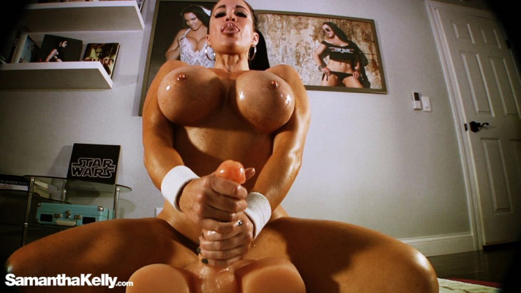 Sex and Flex Riding Big Dick Toy
