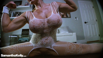 Sexy Flexing and Stretching in Lingerie Webcam Session
