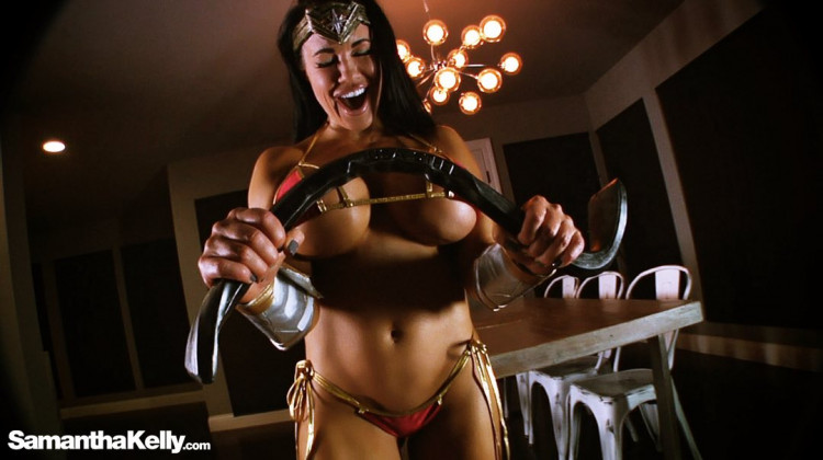 Busty Nude Wonder Woman Fantasy